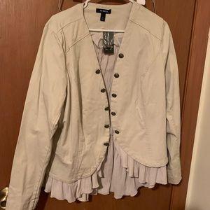 Torrid blazer with ruffle lining NWT